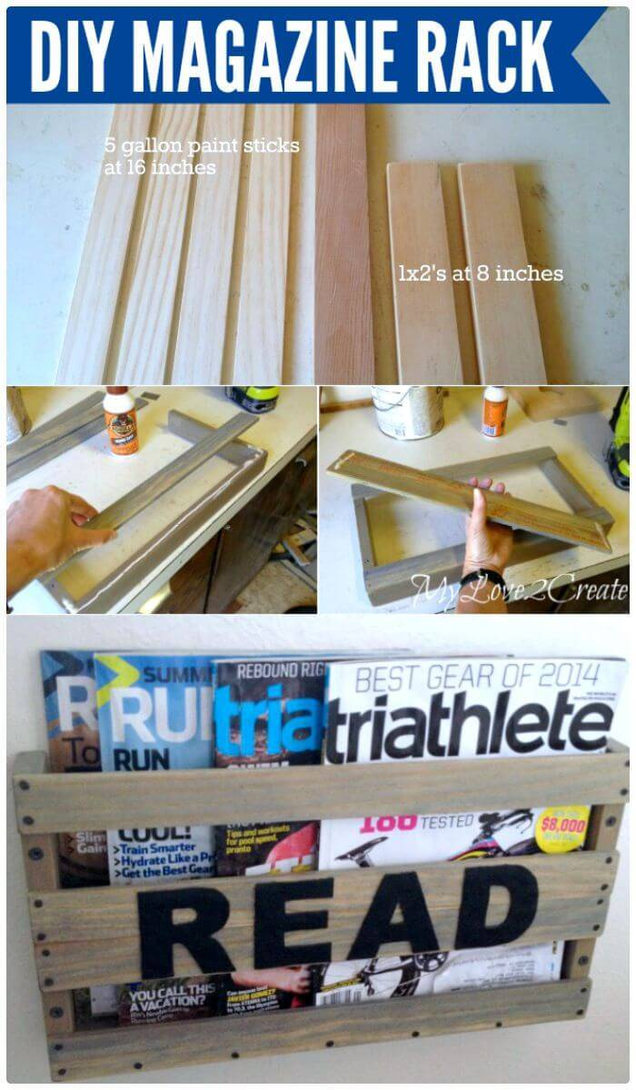 How To Easy DIY Magazine Rack - Step By Step Instructions