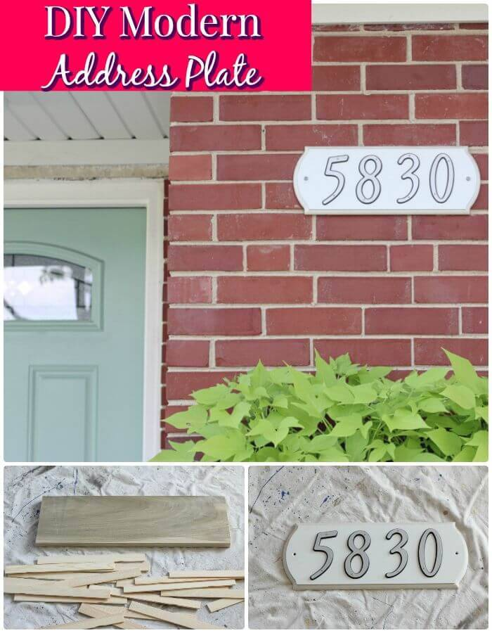 Easy And Simple DIY Modern Address Plate - Step By Step Instructions
