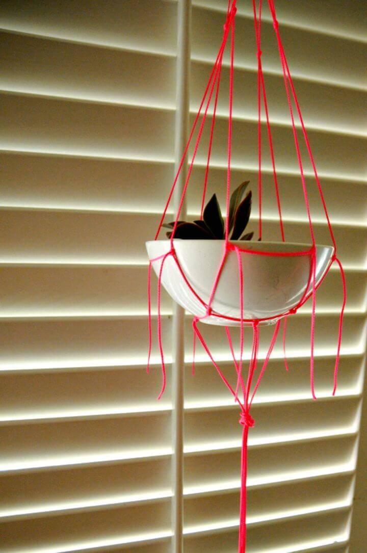 How To Make Neon Macrame Plant Hanger