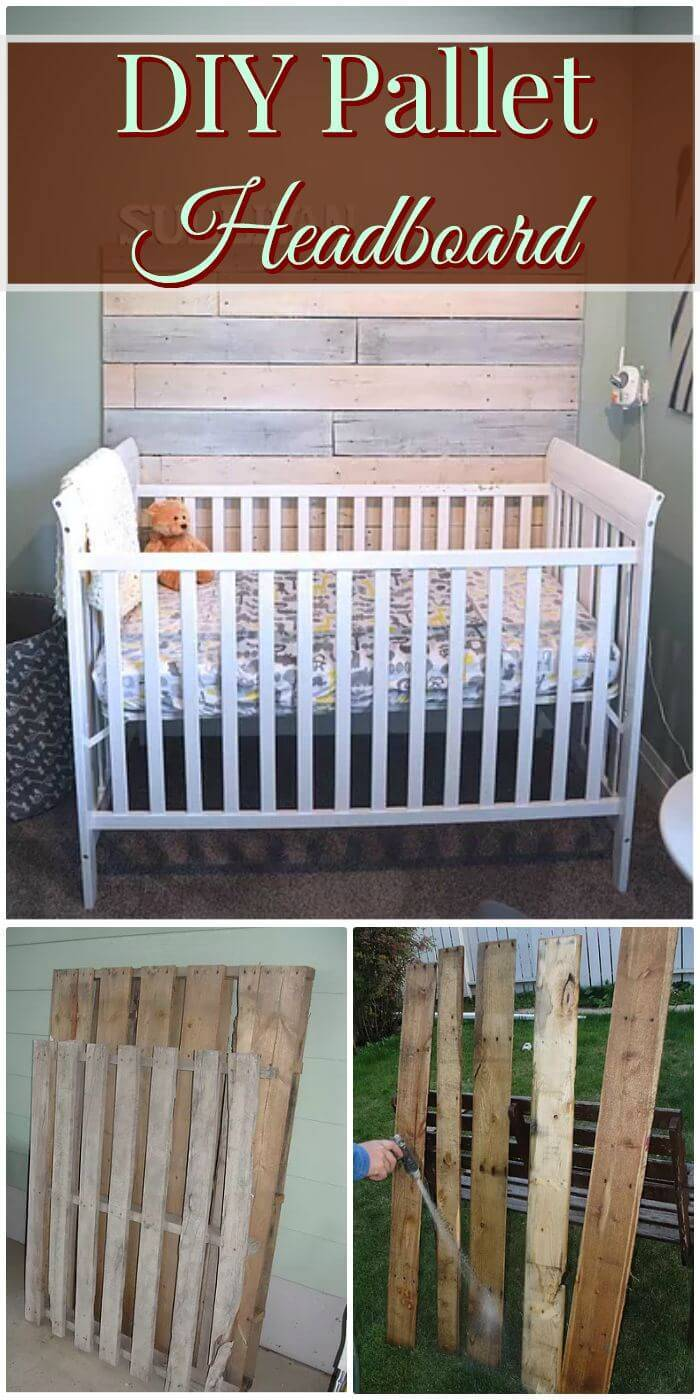 Easy How To DIY Pallet Headboard - Step By Step Free Written Instructions.