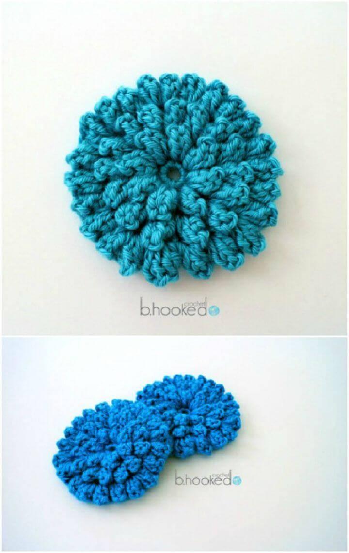 Free Crochet Popcorn Stitch Flower Pattern