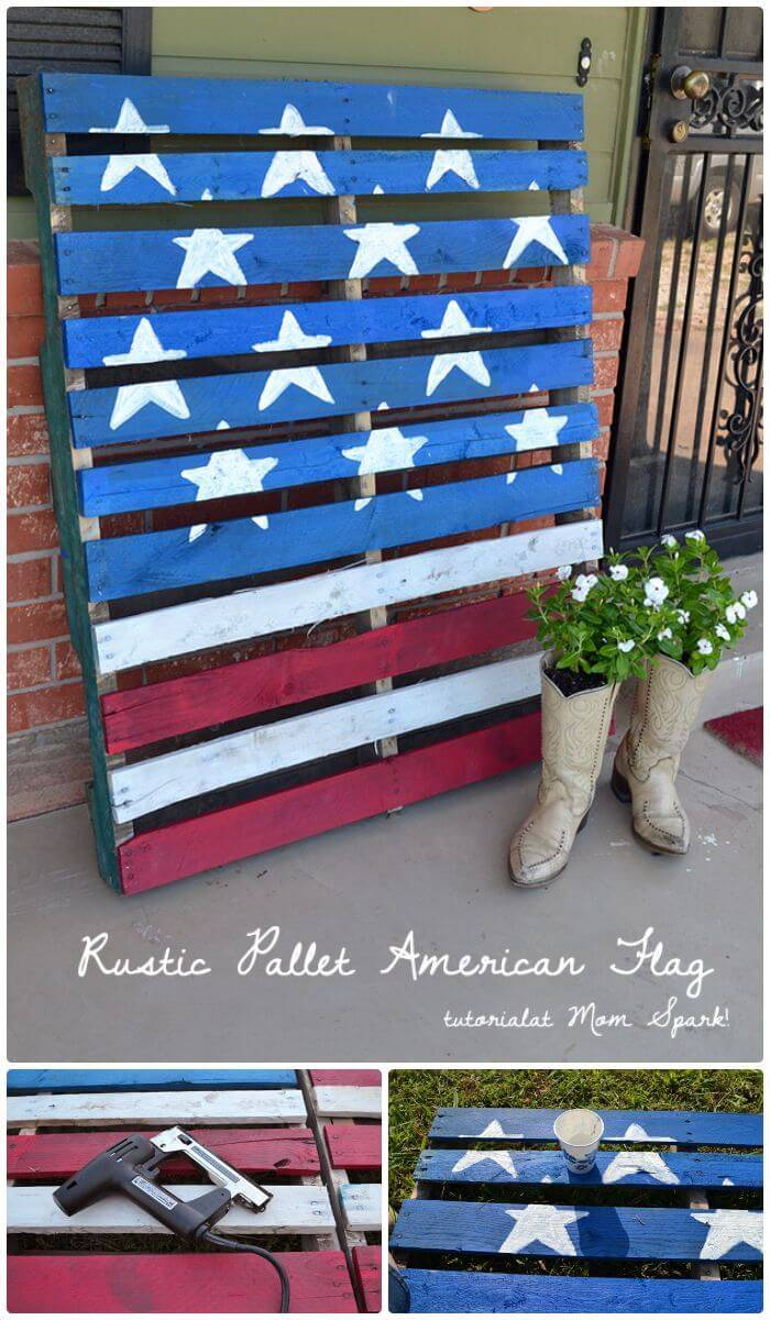 How To Easy DIY Rustic Pallet American Flag