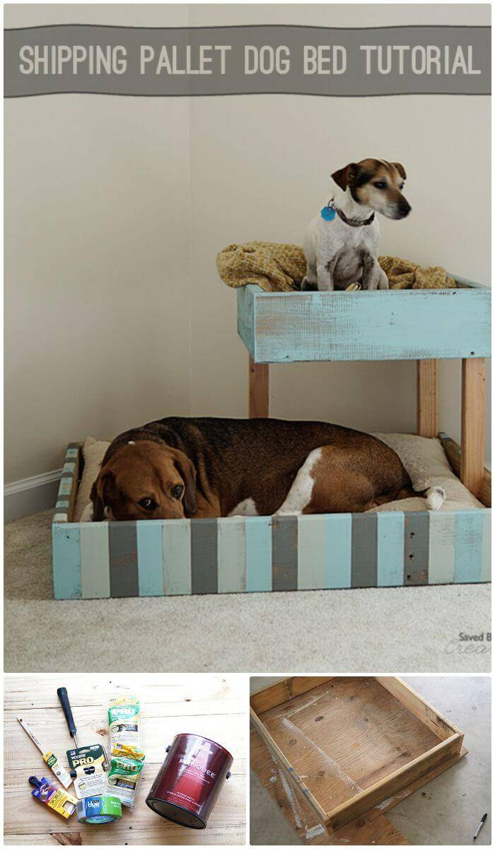 DIY Shipping Pallet Dog Bed