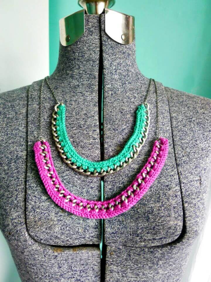 Simple Crochet Necklace - Free Pattern