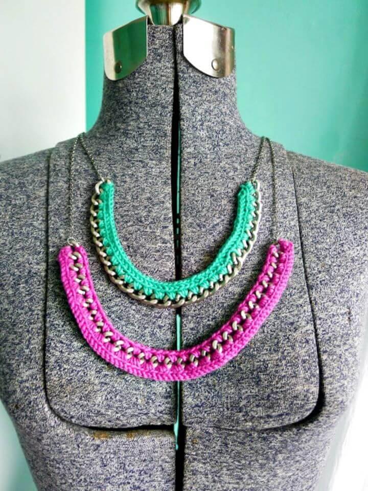 Simple Crochet Necklace - Free Pattern