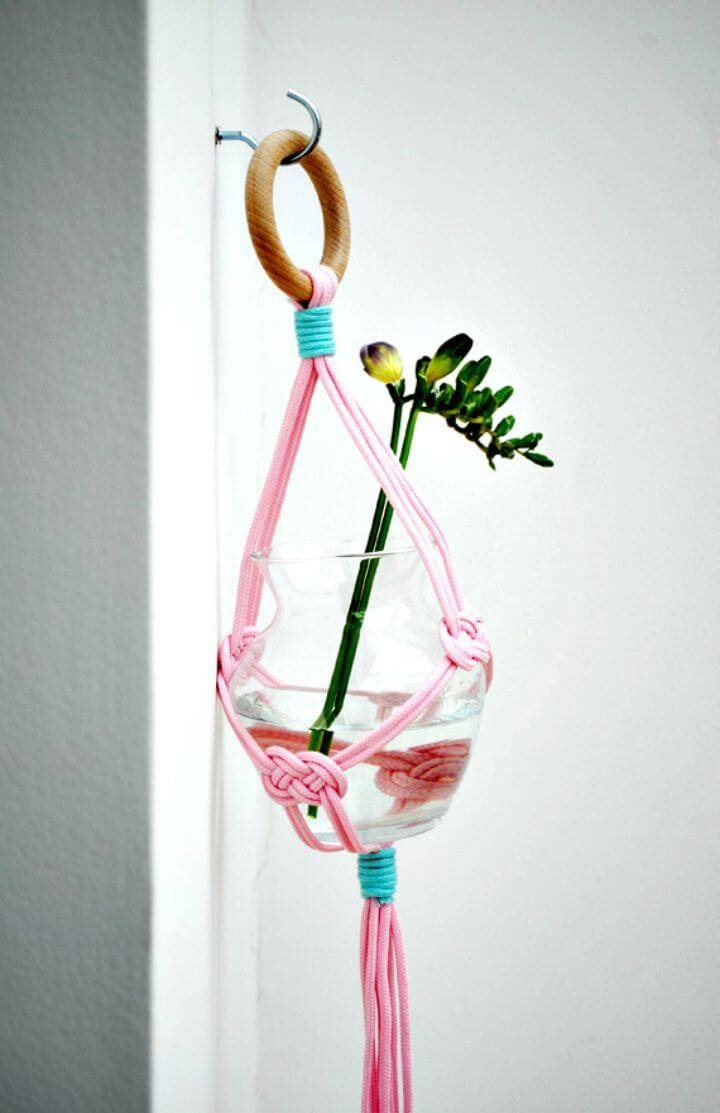 How To Make A Vase-Hanging Macrame Planters