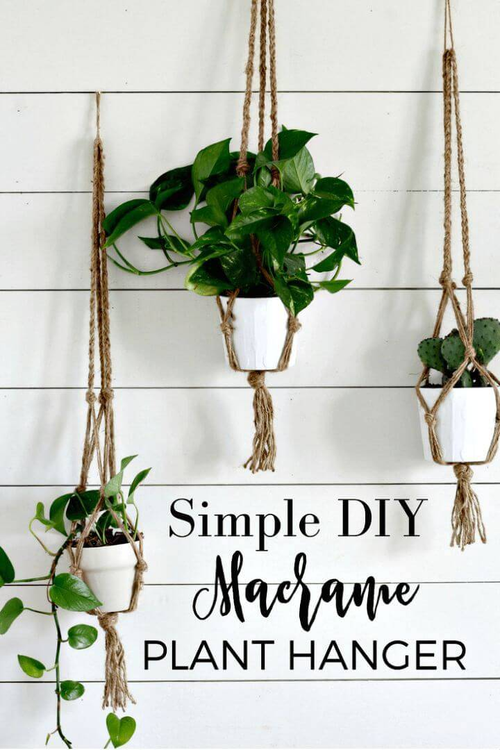 How To Make A Simple Macrame Plant Hanger With Video Tutorial