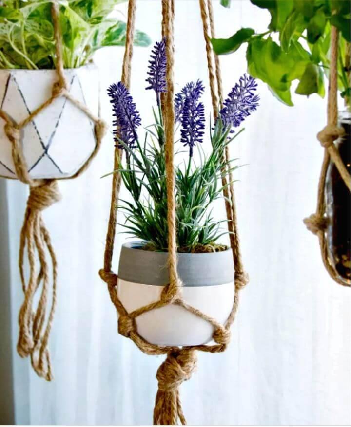 Make An Easy Space Saving Thing Macrame Plant Hangers