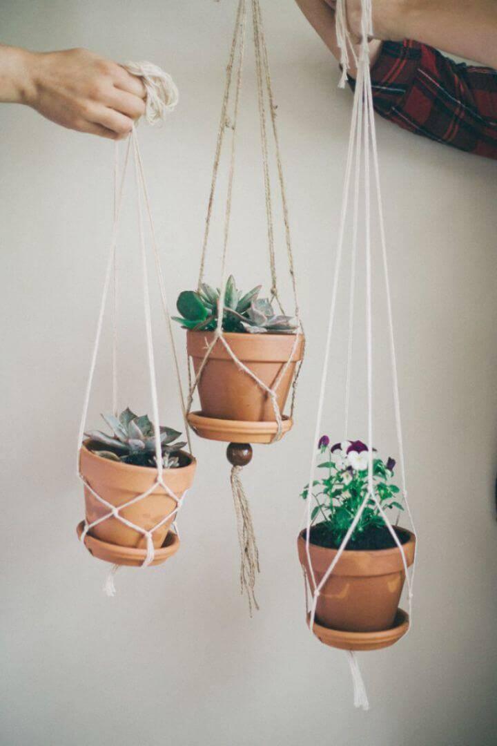 DIY Super Cute Macrame Plant Hangers - Full Tutorial