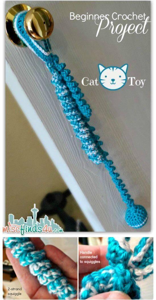 Crochet Super Easy Crocheted Cat Toy