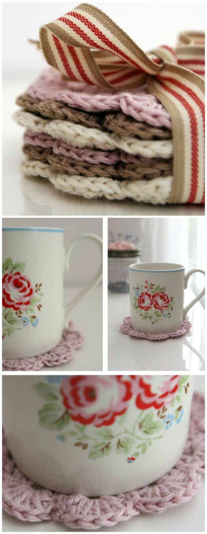 DIY Super Easy Crocheted Coasters