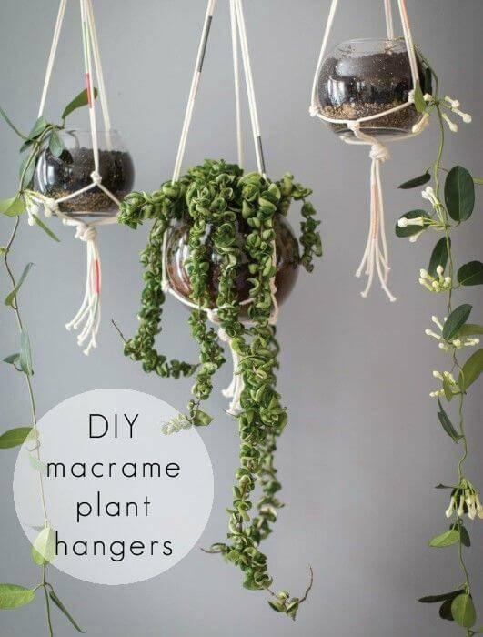 Super Easy DIY Macrame Hanging Planter