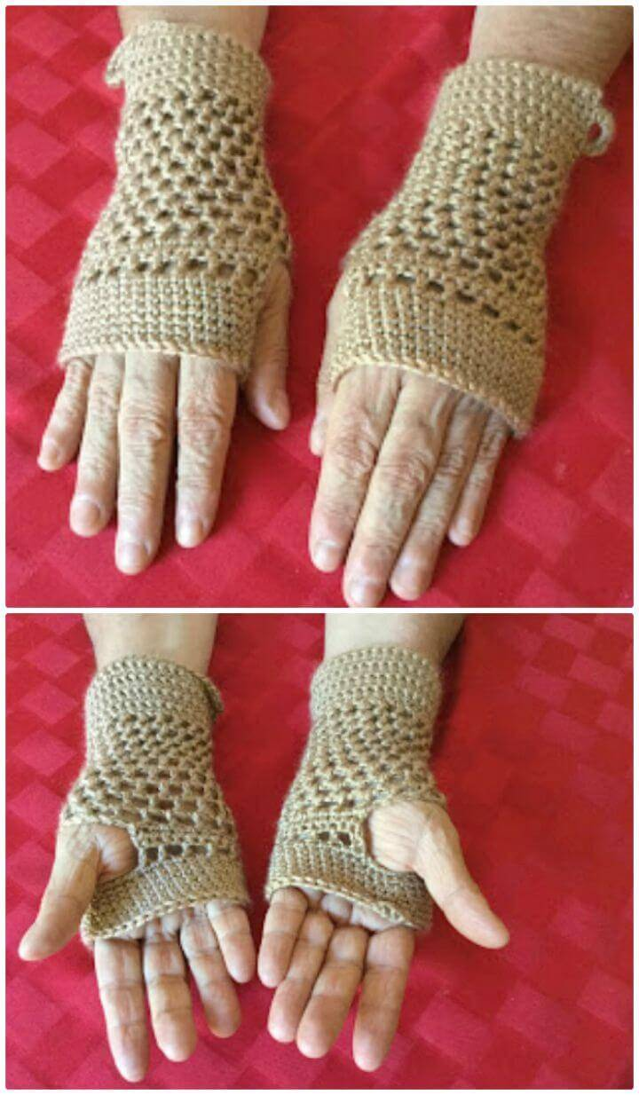 Tibbi's Crocheted Fingerless Gloves - Free Pattern