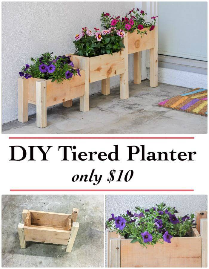 How To Tiered Planter Box Plans and Video Tutorial Under $10