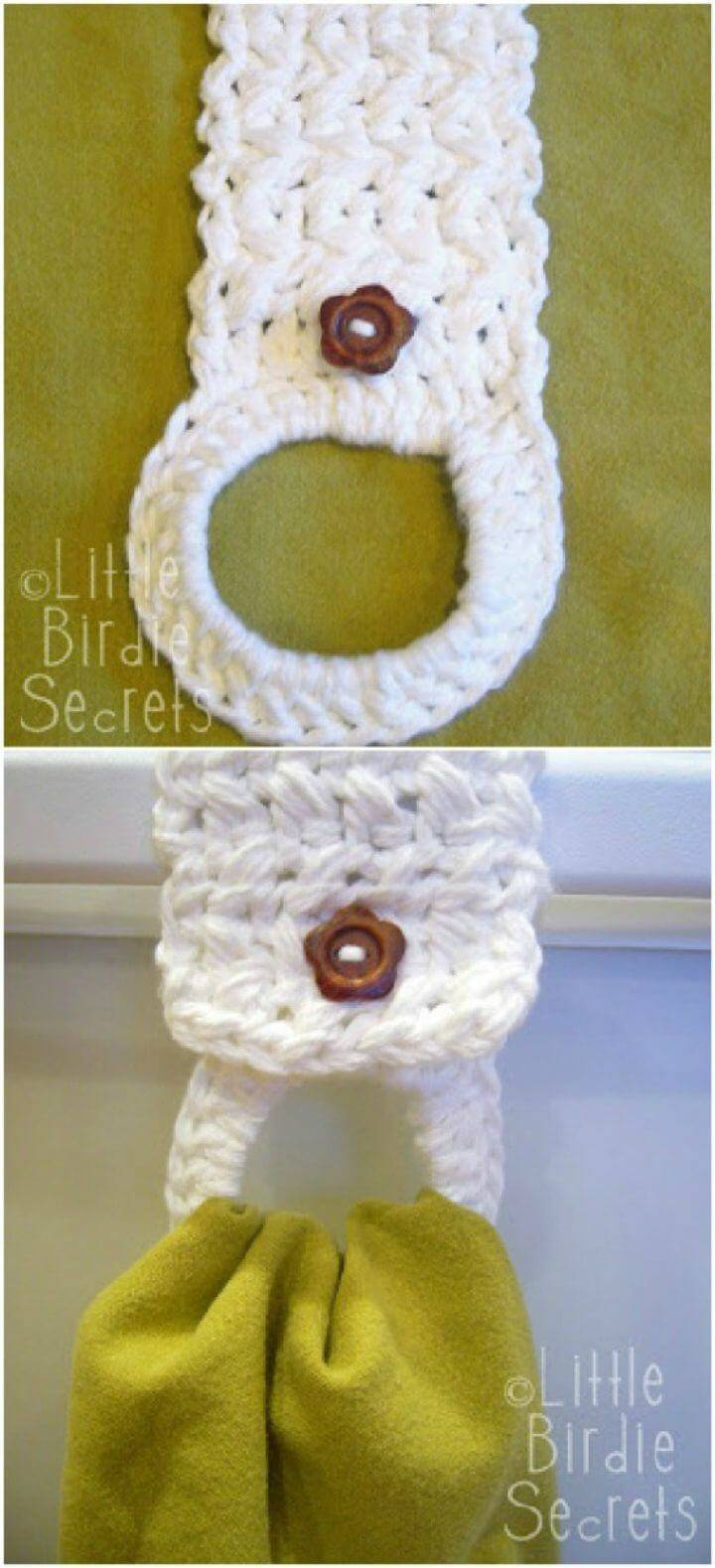 Free Crochet Towel Holder Pattern