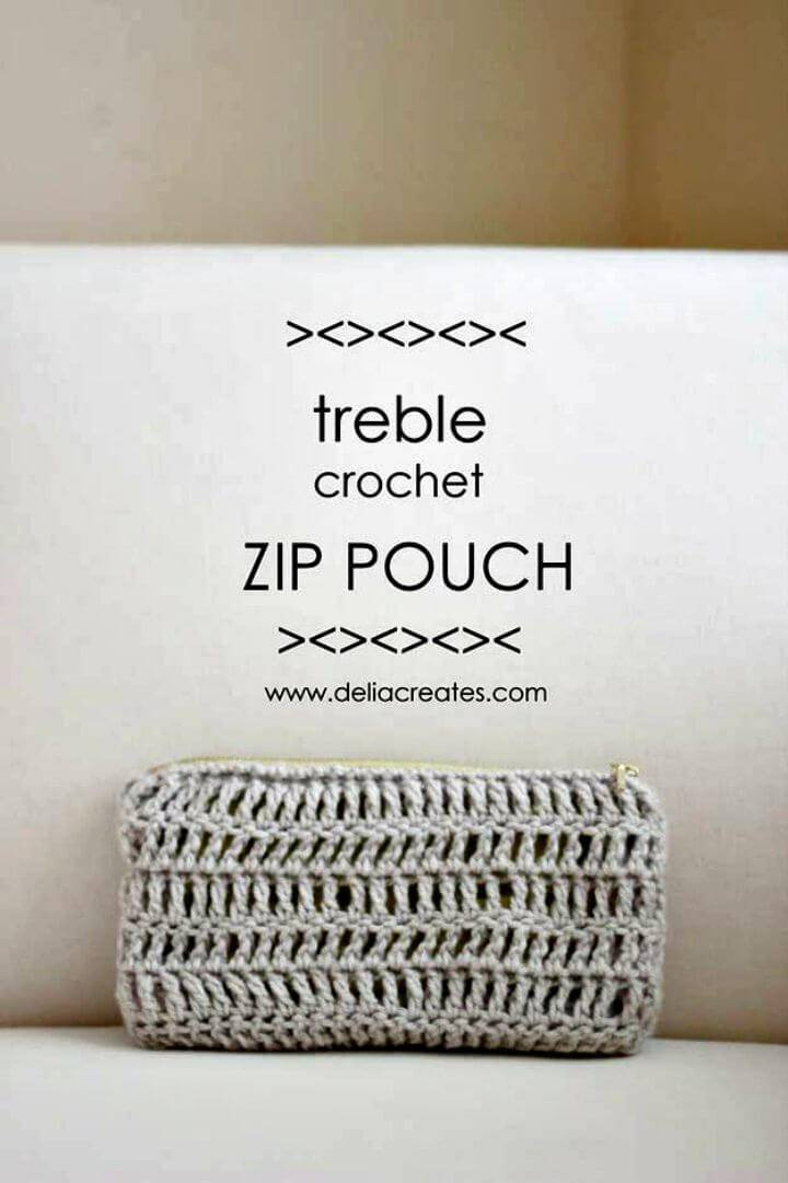 Free Treble Crochet Zip Pouch Pattern