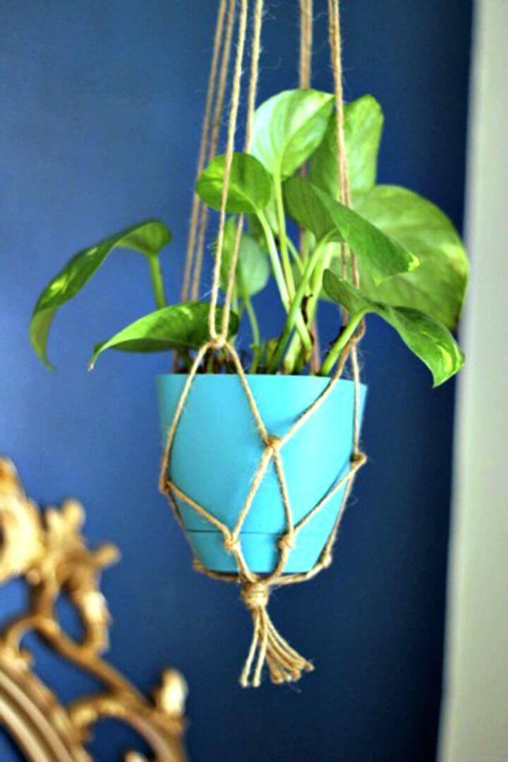 How To Make Twine Macrame Plant Hanger