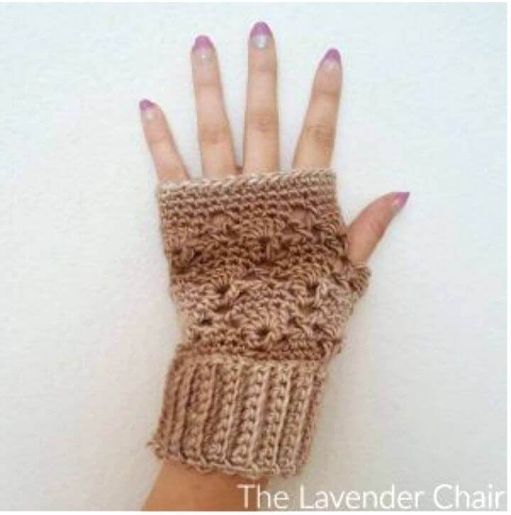How To Easy Vintage Finger-less Gloves - Free Pattern