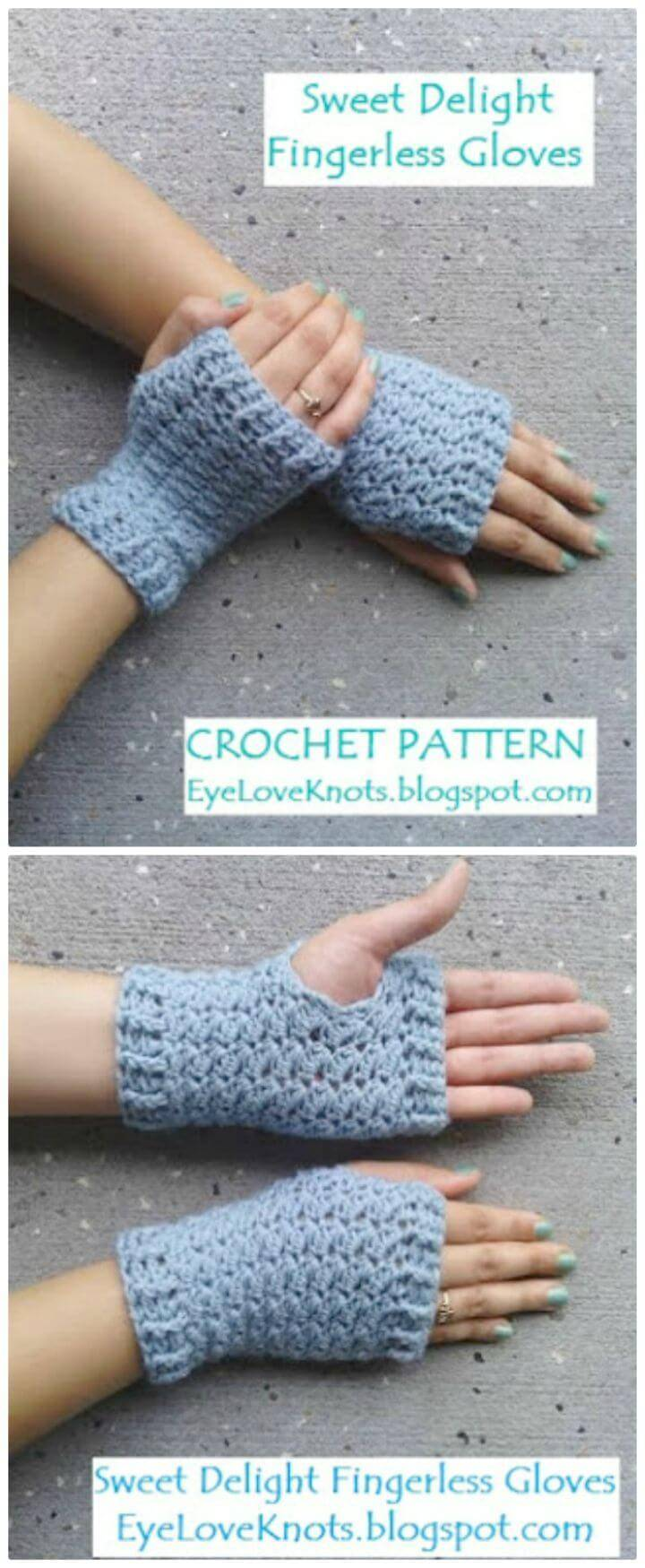 Free Crochet Women's Sweet Delight Fingerless Gloves Pattern