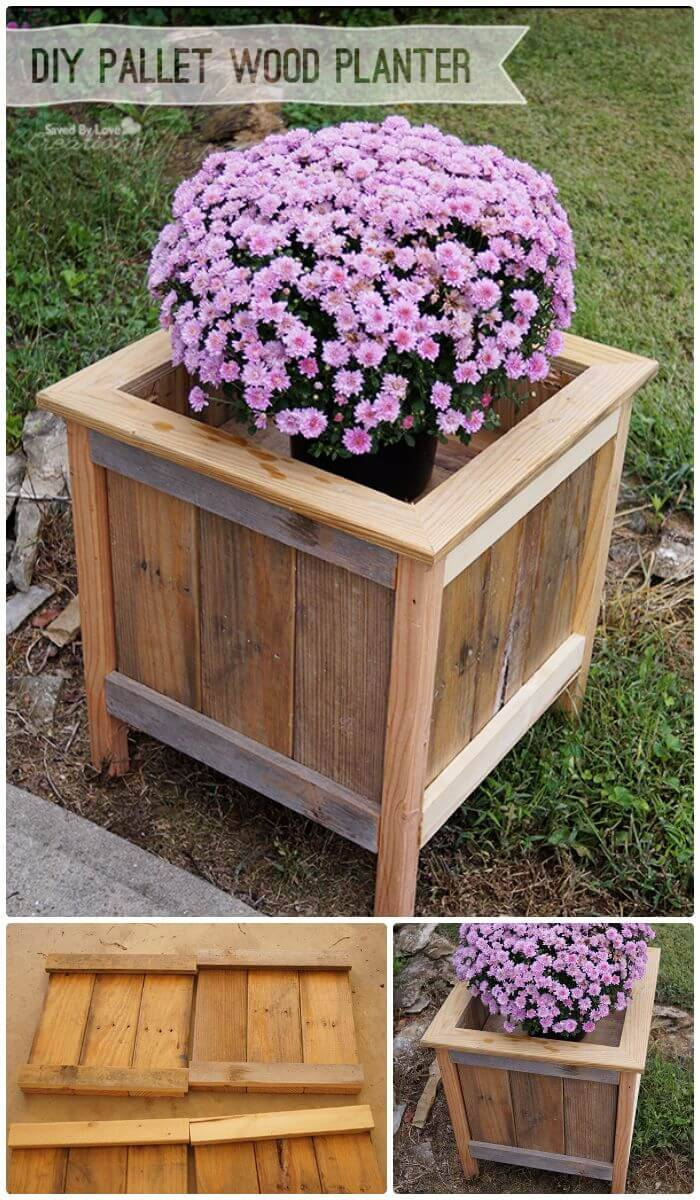 Super Easy DIY Wood Pallet Planter