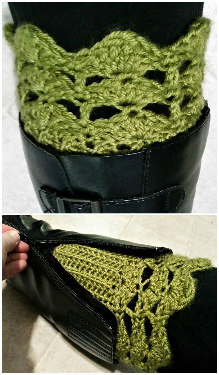 Easy Crochet Belmont Boot Toppers - Free Pattern