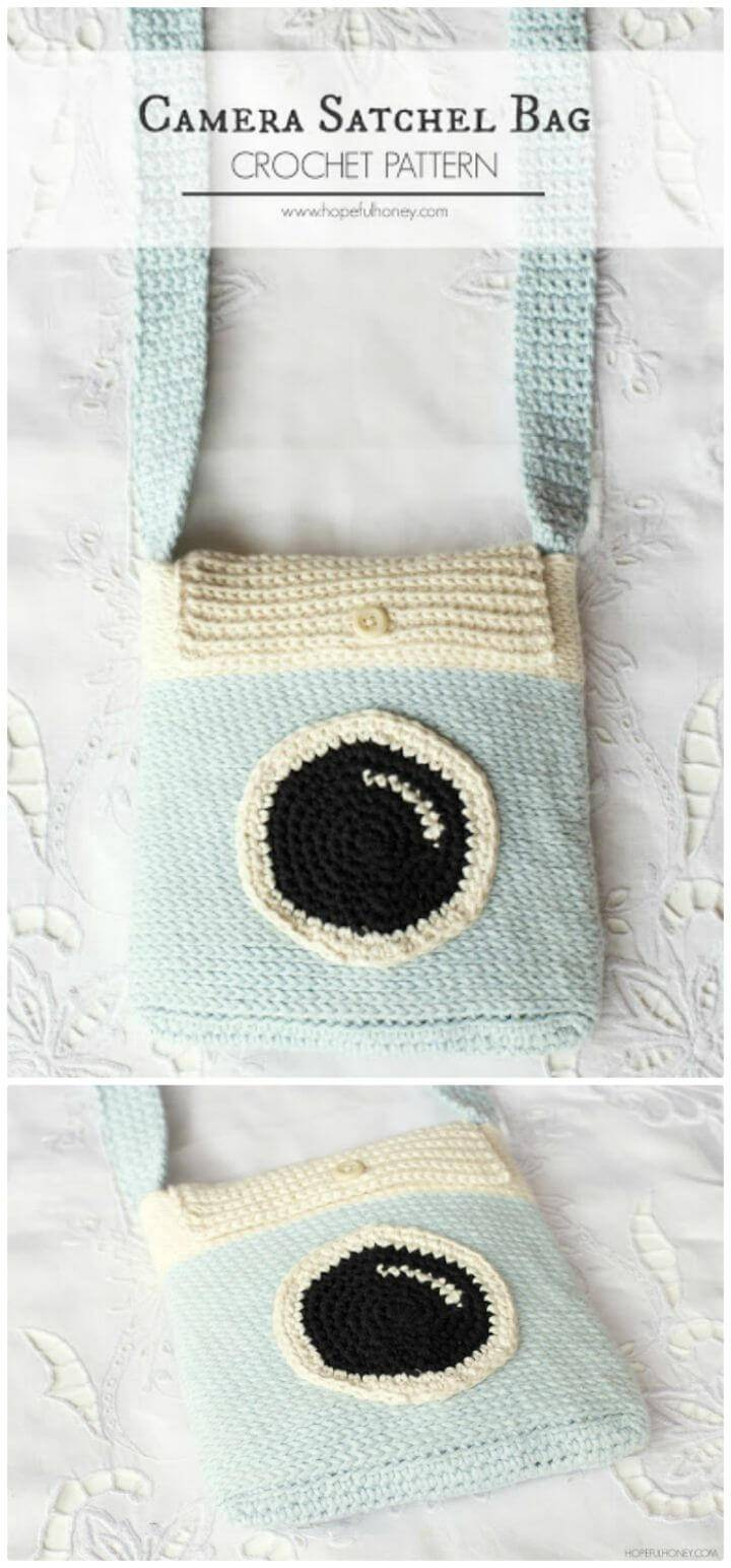 Easy Camera Satchel Bag - Free Crochet Pattern
