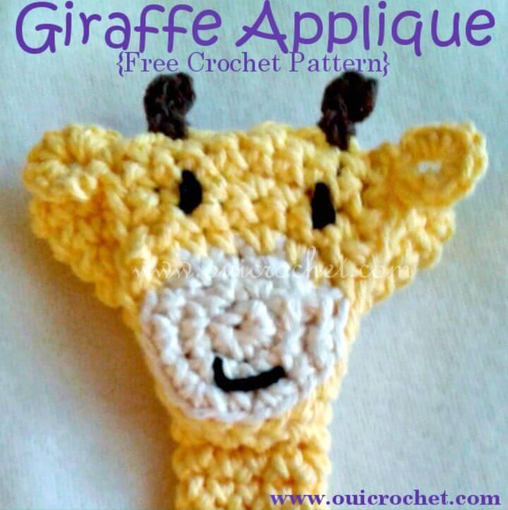 Easy Crochet Giraffe Applique - Free Pattern