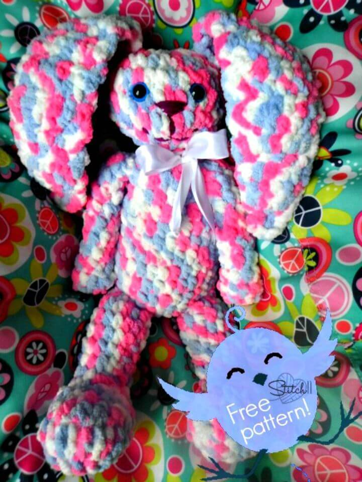 How To Crochet Huggy Bunny - Free Pattern