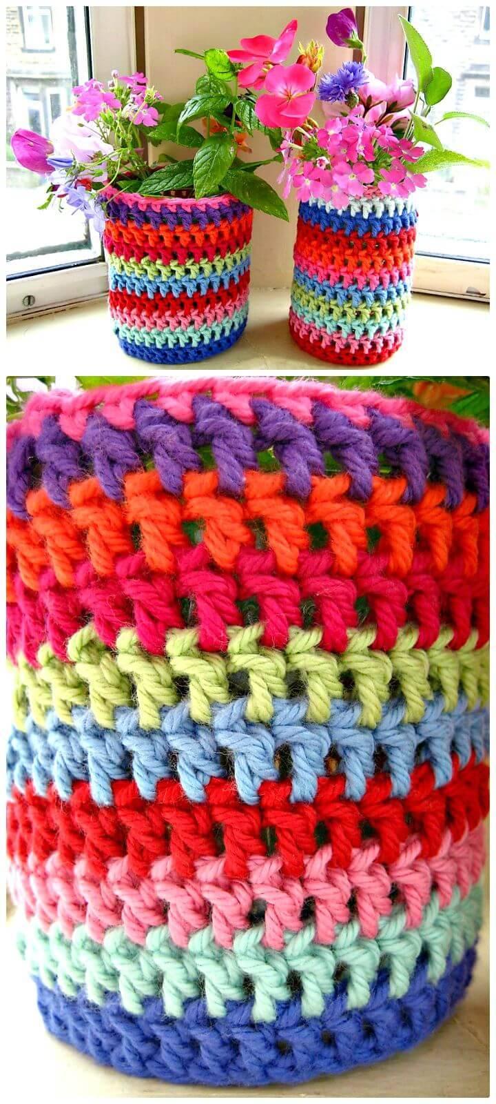 How To Easy Crochet Jar Jacket - Free Pattern