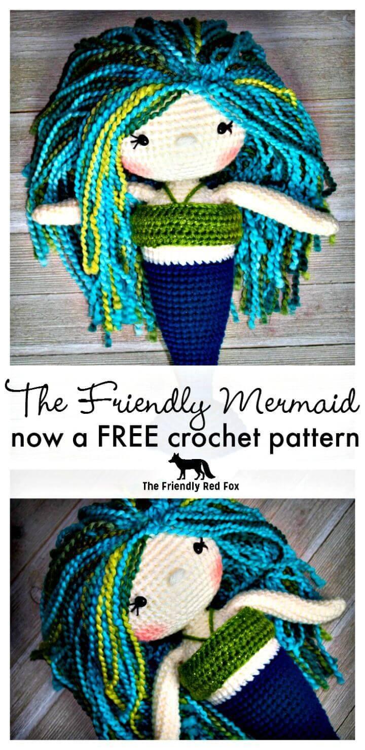 Easy Free Crochet Mermaid Pattern