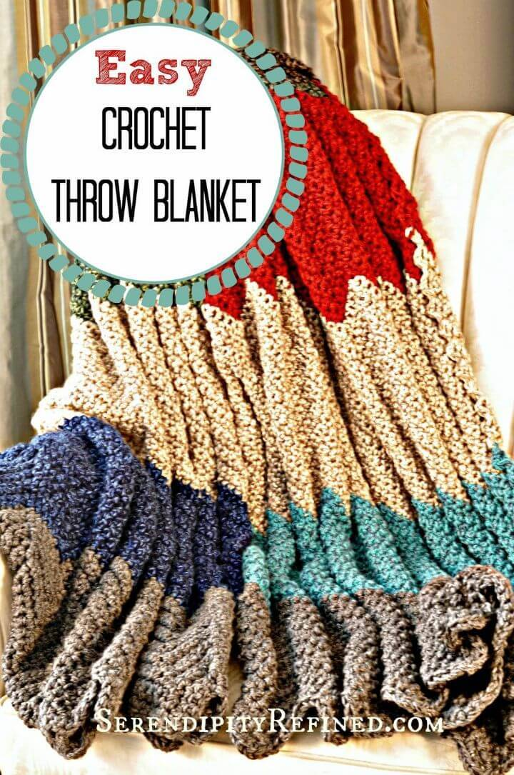 Easy Crochet Throw Blanket - Free Pattern