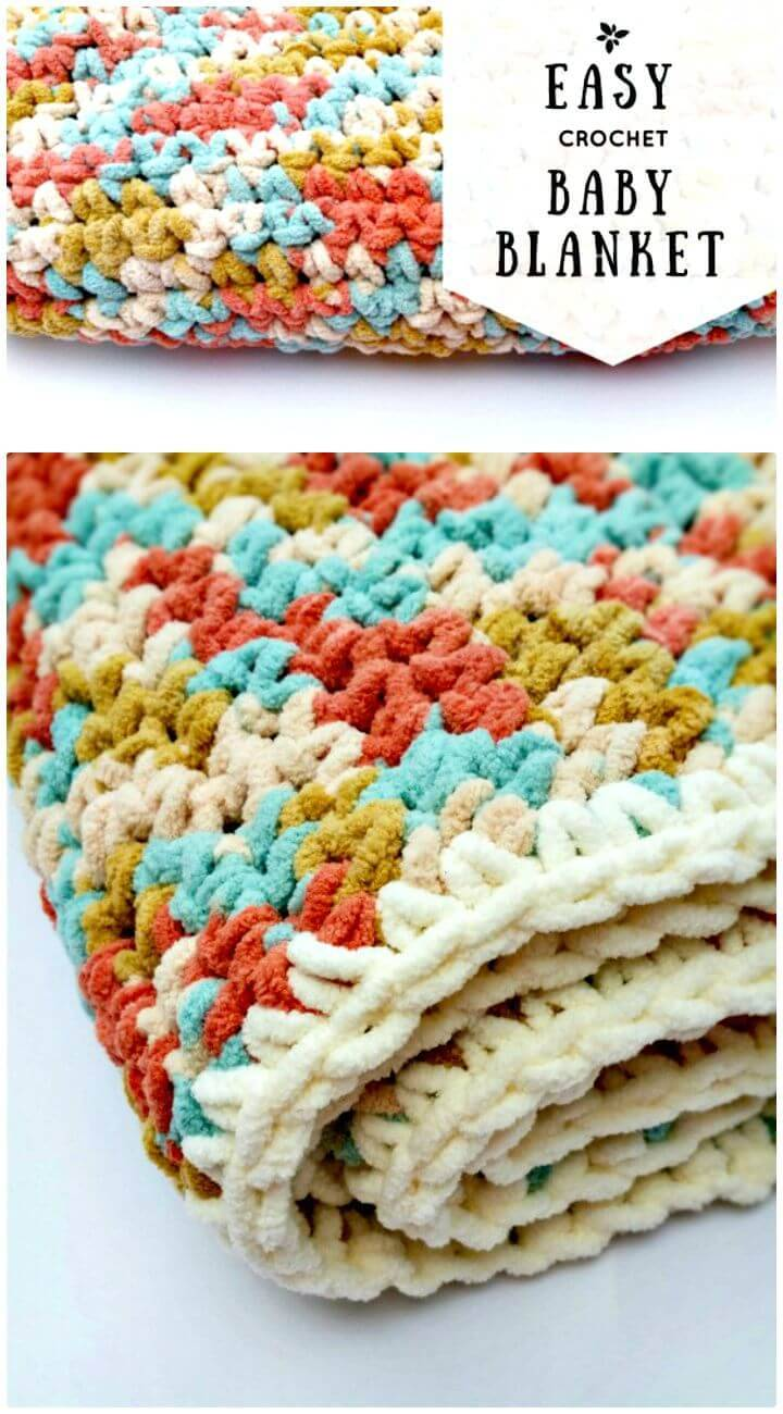 Easy Crochet Baby Blanket - Free Pattern