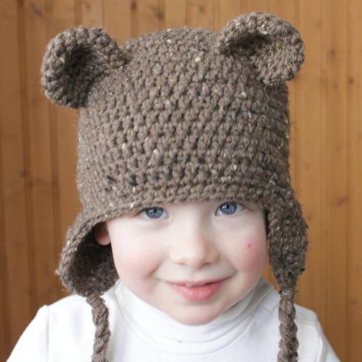 Easy Free Crochet Bear Hat Pattern