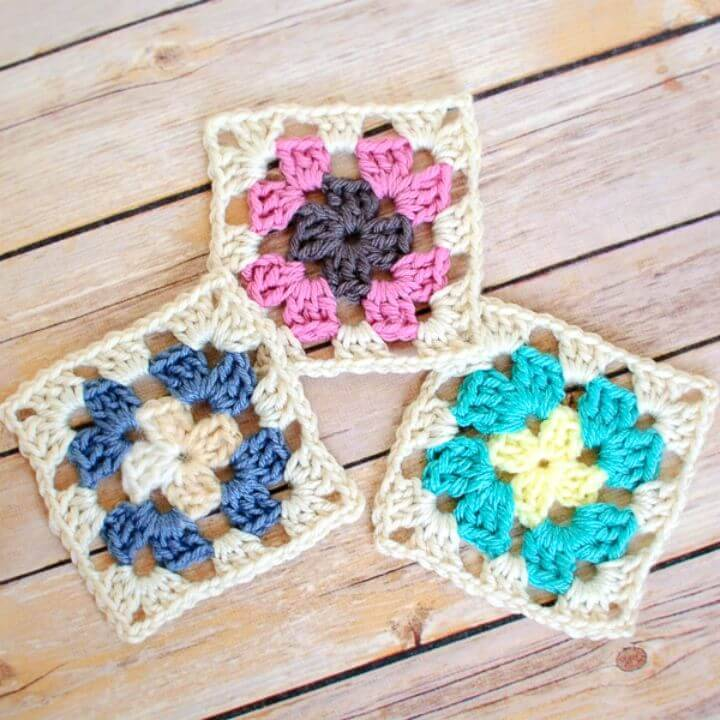 Easy Free Crochet Beautiful Granny Square Pattern