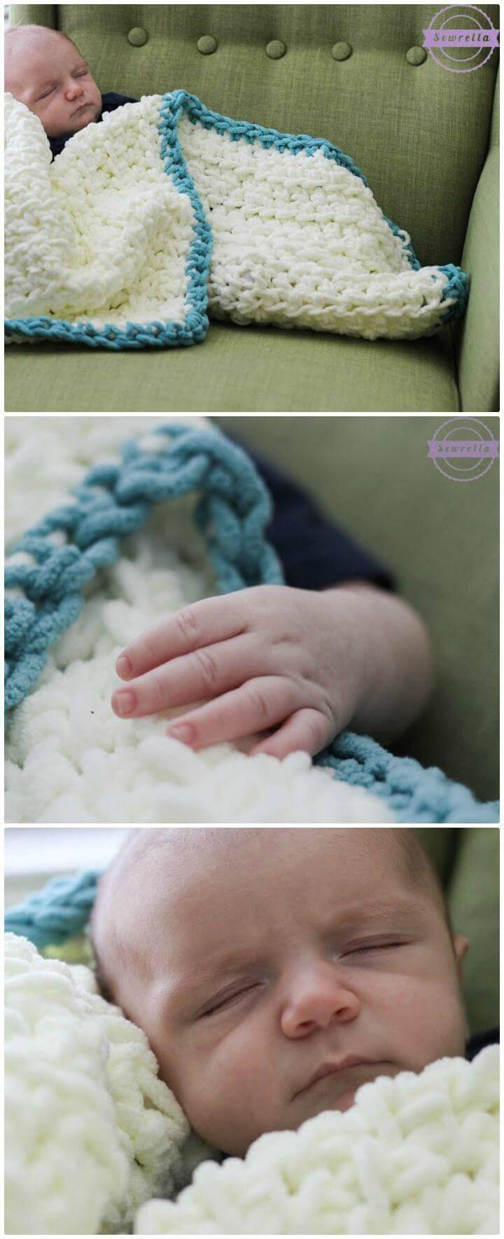 Easy Free Crochet Beginner Baby Blanket Pattern