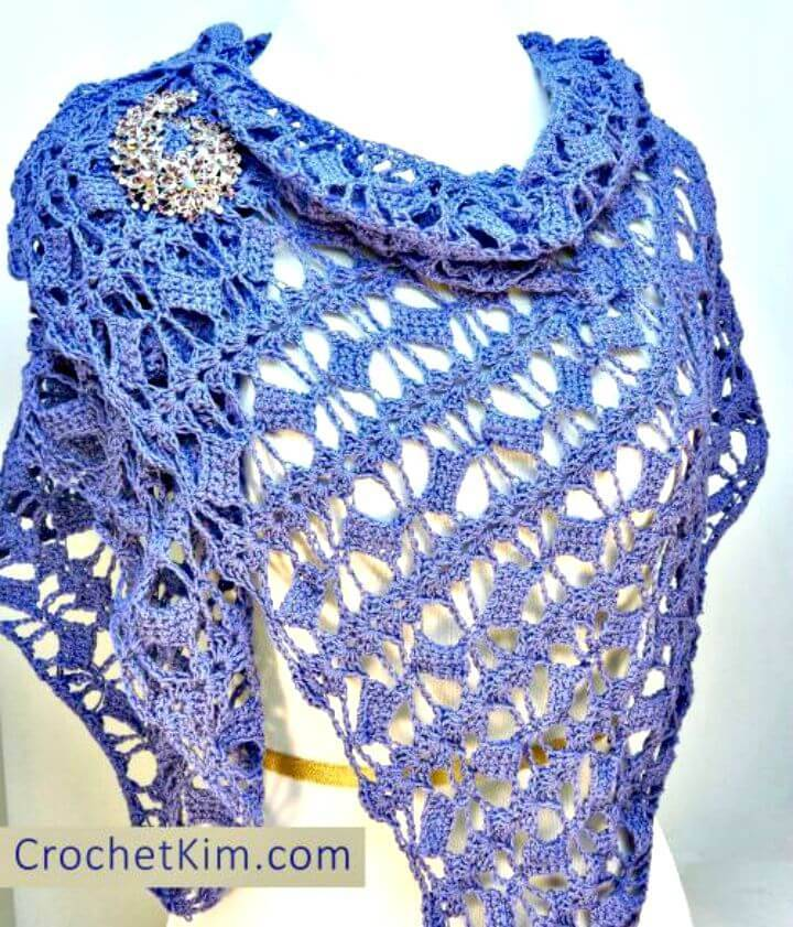 Crochet Butterfly Fling Wrap - Free Pattern