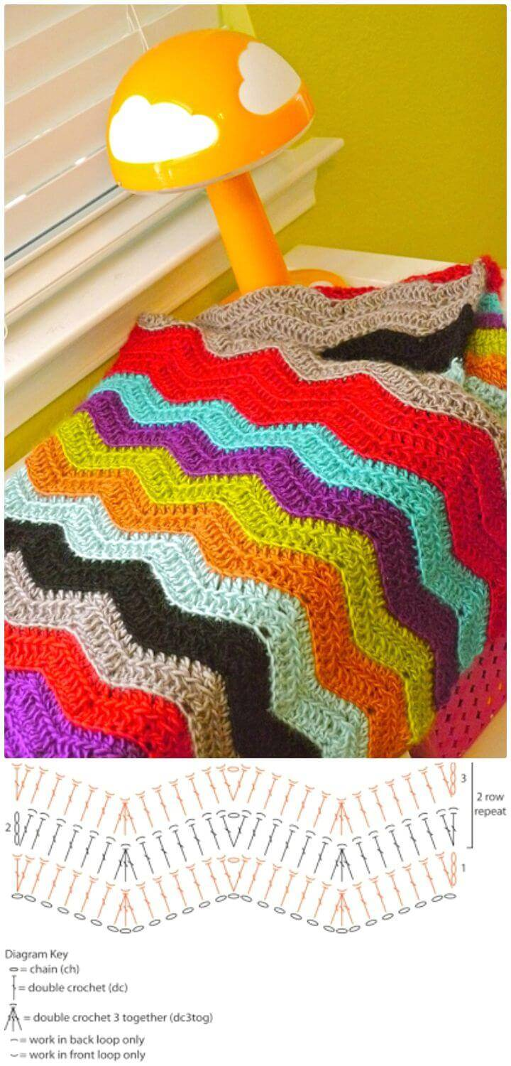 How To Crochet Chevy Baby Blanket - Free Pattern