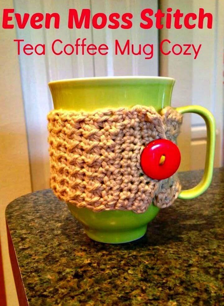 Easy Free Crochet Coffee Mug Cozy Tutorial