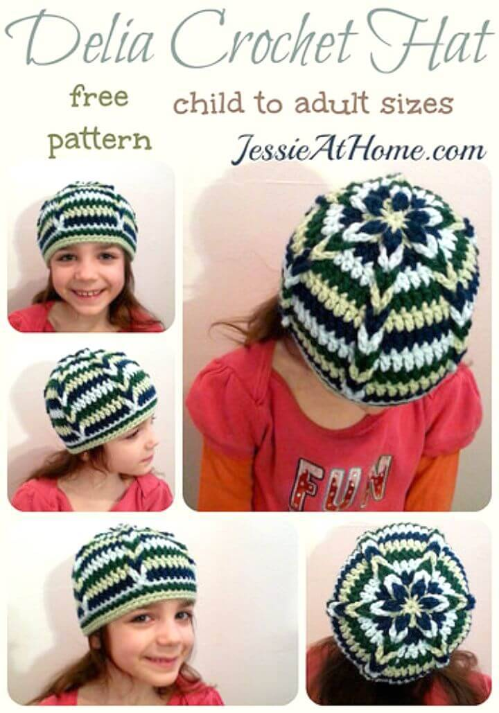 Easy Crochet Delia Hat - Free Pattern