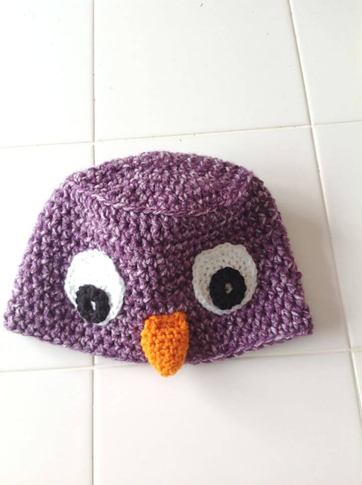 How To Free Crochet Owl Hat Pattern