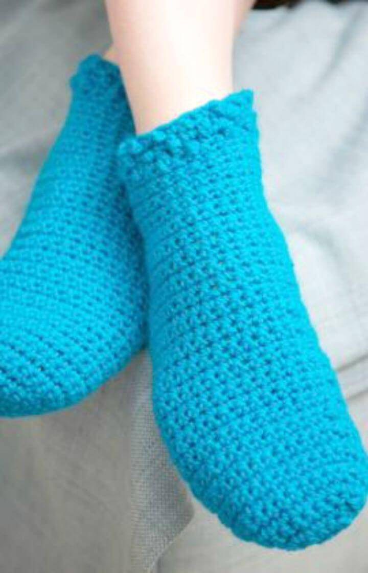 Easy Free Crochet Relaxing Footies Pattern