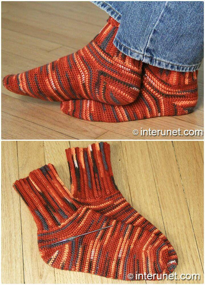 Free Crochet Socks Pattern - Easy To Follow Stitch