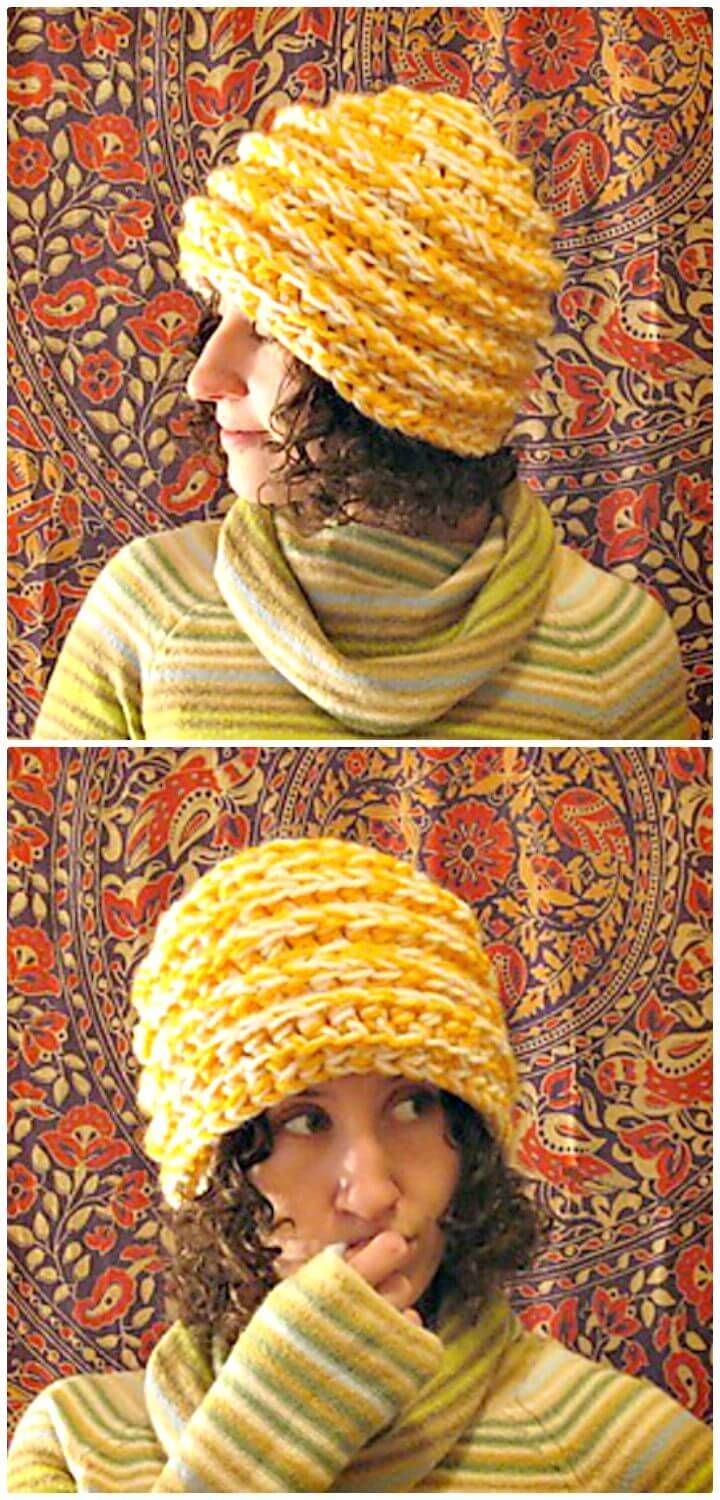 Easy Free Crochet Triton's Thinking Hat Pattern