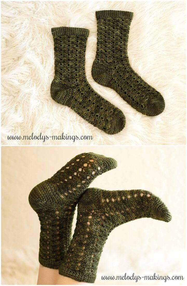 How To Easy Free Crochet Wildlings Socks Pattern