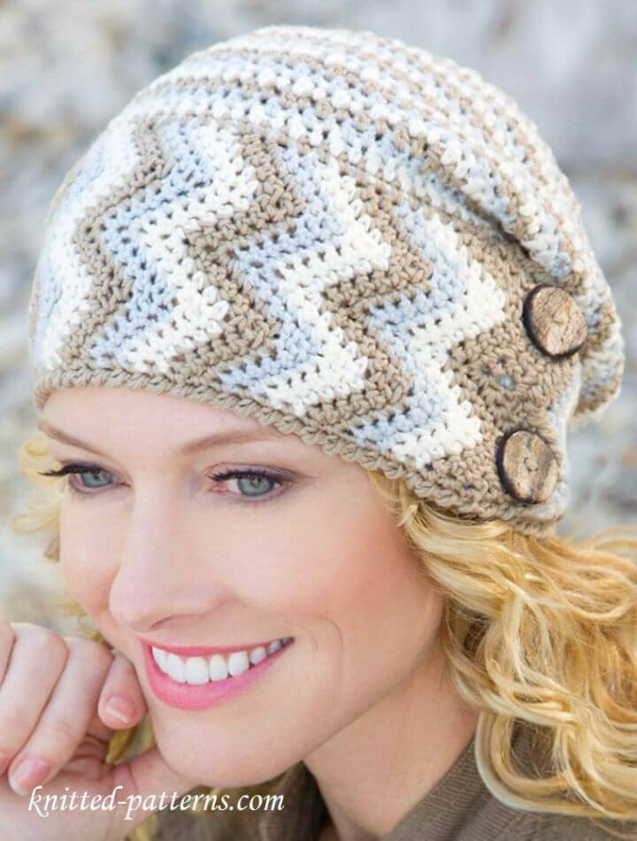 Easy Crochet Women's Hat - Free Pattern