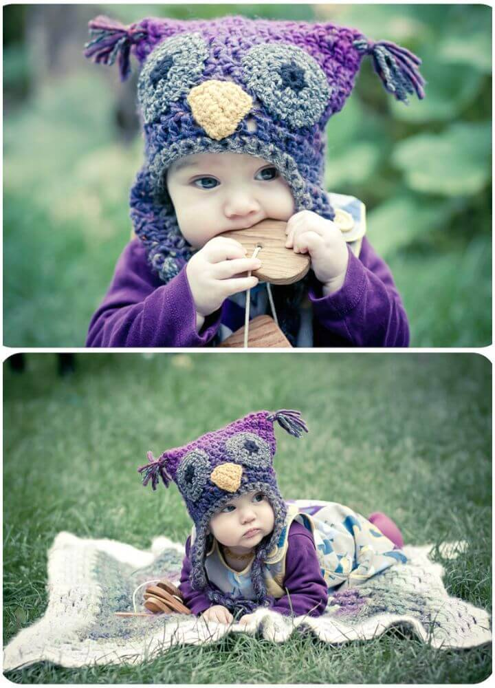 Free Crochet Woolly Owl Hat Pattern