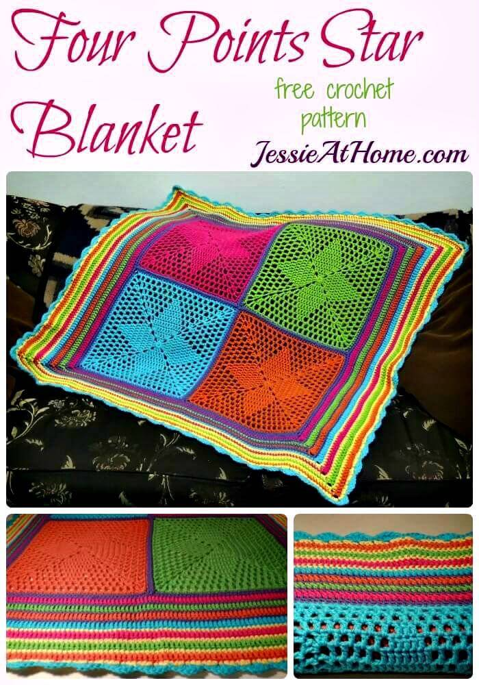 How To Make Four Points Star Blanket – An Adorable Blanket For Your New Little Star - Free Crochet Pattern
