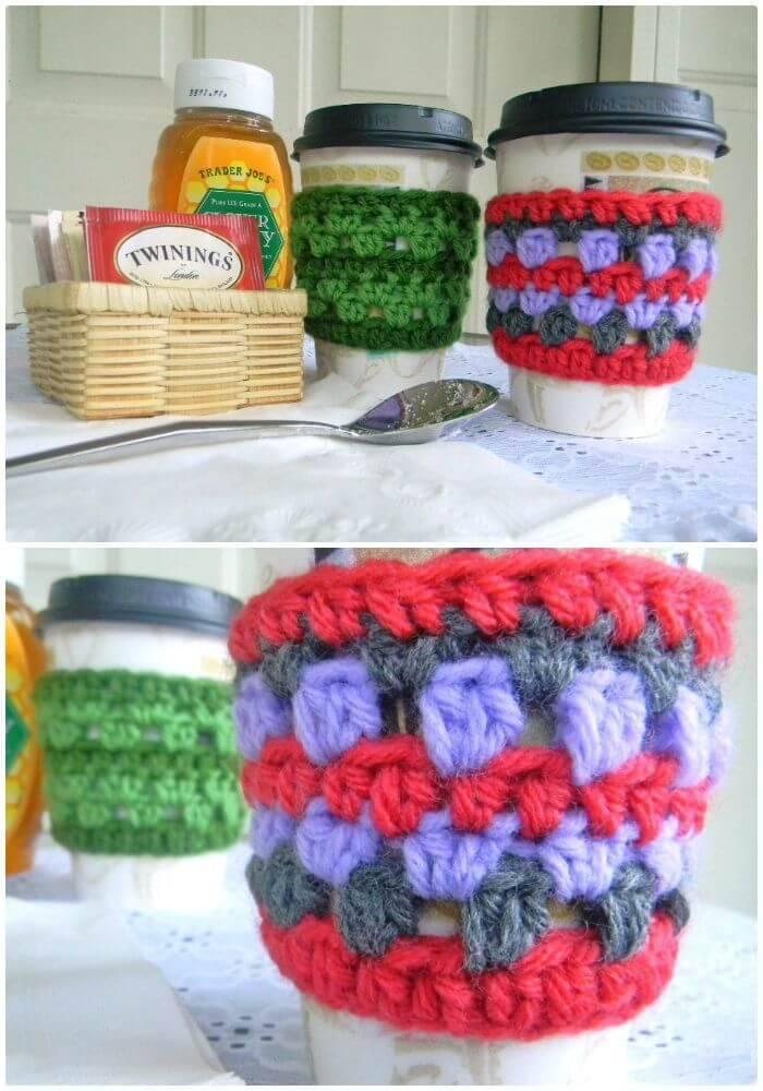 Simple Free Coffee Cozy Crochet Pattern