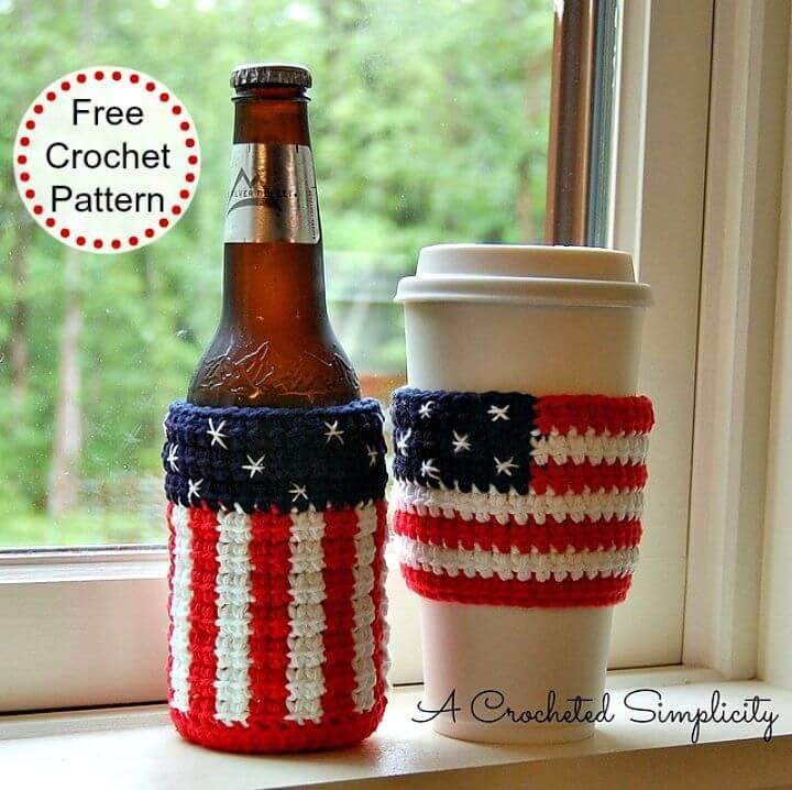 """Free Crochet """"Celebrate"""" Cozy & Coffee Sleeve Pattern"""