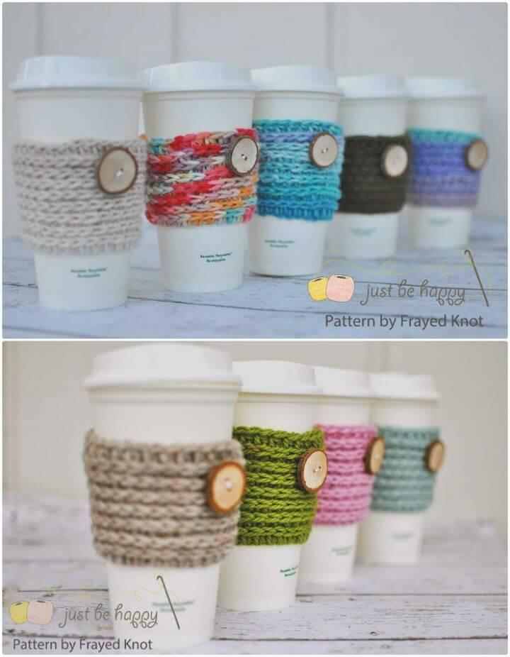 How To Free Crochet 15 min Coffee Cozy Pattern